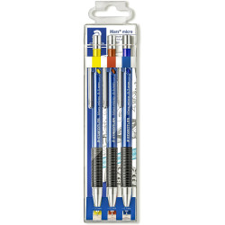 STAEDTLER MARS MICRO PENCIL Mechanical .3mm.5mm &.7mm Wlt3 Wallet of 3