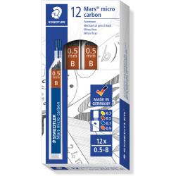 STAEDTLER MARS MICROGRAPH LEAD B 0.5mm Tube12 Pack of 12