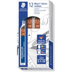 STAEDTLER MARS MICROGRAPH LEAD 2B 0.5mm Tube12 Pack of 12