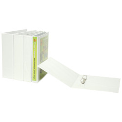 Marbig Clearview Insert Binder A4 4D Ring 65mm White