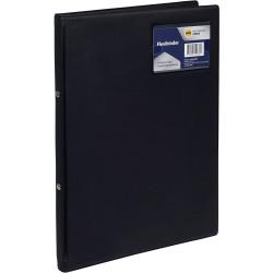 Marbig Professional Flexi Binder Soft Cover 2 Ring 20mm Black