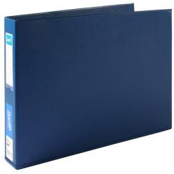 Bantex Binders A3 3D Ring 38mm PVC Landscape Blue