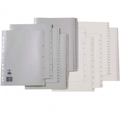MARBIG COLOURED DIVIDERS A4 PP 1-31 Grey Includes 31 Tabs
