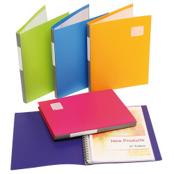 Marbig Professional Series Display Book A4 Refillable 20 Pocket Assorted Pack Of 12