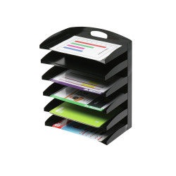MARBIG DESKTOP ORGANISER 6 Tier Metal Black