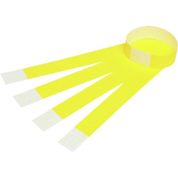 REXEL WRIST BANDS W/Serial Number Fluoro Yellow Pack of 100