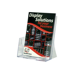 DEFLECT-O BROCHURE HOLDERS A4 Extra Cap.Free Standing