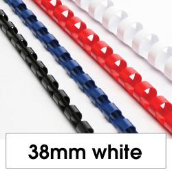 REXEL BINDING COMB 38mm 330 Sheet Capacity  White Pack of 50