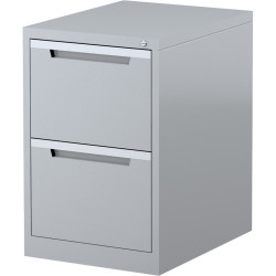 STEELCO FILING CABINET 2 Drawer Silver Grey