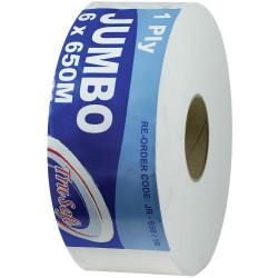 TRUSOFT JUMBO TOILET ROLLS 1 Ply 650Mtr Carton of 6