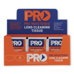 LENS CLEAN WIPES Pre-Moist,Non Scratch,Anti-Fog Box of 100