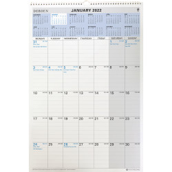 COLLINS CALENDAR WALL PLANNER Wiro 12 Month 394x577mm