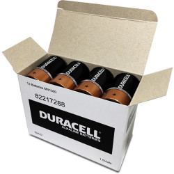 DURACELL COPPERTOP BATTERY D Bulk Pack Pack of 12