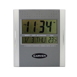 CARVEN WALL CLOCK Digital , Square