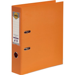 Marbig Linen PE Lever Arch Binder A4 75mm Orange