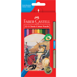 FABER-CASTELL COLOUR PENCILS Classic With a Gold Pencil