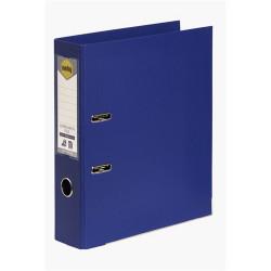 Marbig Linen PE Lever Arch Binder A4 75mm Blue