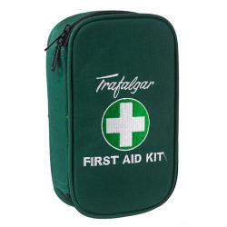 Trafalgar First Aid Kit Vehicle Low Risk Soft Case Green