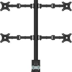 RapidLine Revolve Monitor Arm Quad 708mm H Central Pole 360mm Arm Reach