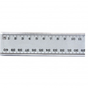 Marbig Plastic Ruler 40cm Clear Hang Sell