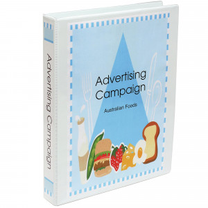 Marbig Clearview Insert Binder A3 3D Ring 32mm Portrait White