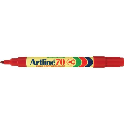 ARTLINE 70 PERMANENT MARKERS Med Bullet Red