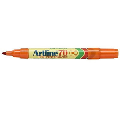ARTLINE 70 PERMANENT MARKERS Med Bullet Orange Pack Of 12 Box of 12