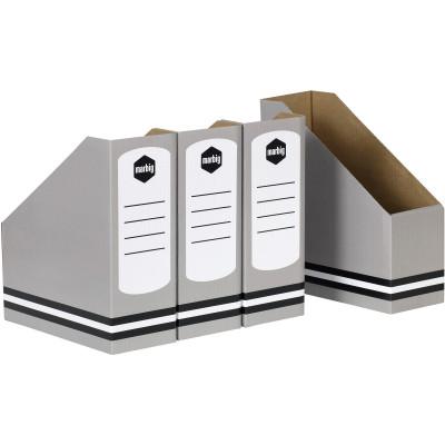 MARBIG MAGAZINE HOLDERS Standard Grey Pack of 4