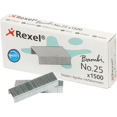 REXEL STAPLES No.25 Bambi Box of 1500