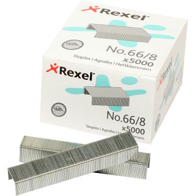 REXEL STAPLES Giant No.66/8mm 45Sht Box of 5000
