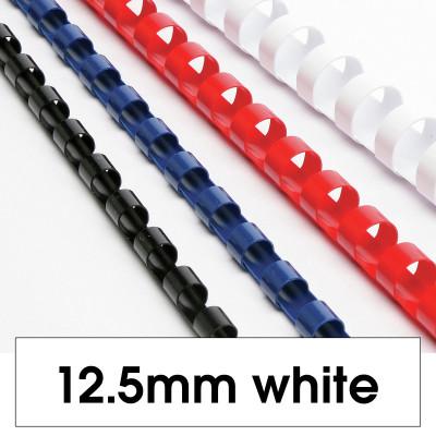 REXEL BINDING COMB 12mm 21Loop 95Sht Cap White Pack of 100