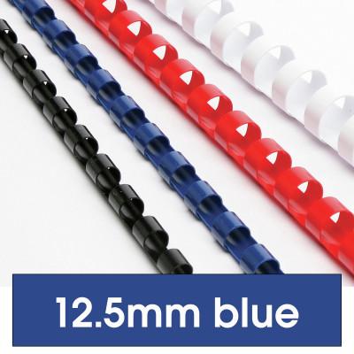 REXEL BINDING COMB 12mm 21Loop 95Sht Cap Blue Pack of 100